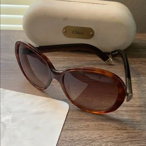 Chloe Brown Tortoise Shell Sunglasses
